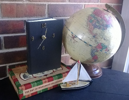 diy handmade book clock crafts for men