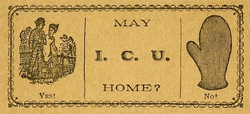 vintage 19th century 1800s calling card