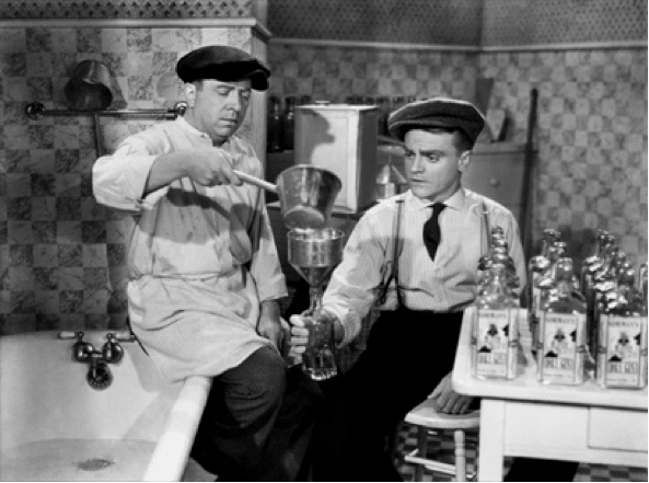 James Cagney making bathtub gin in the roaring twenties.