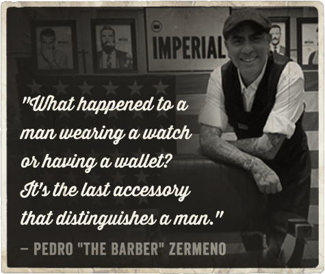 Life advice from barber on being a man Pedro Zermeno.