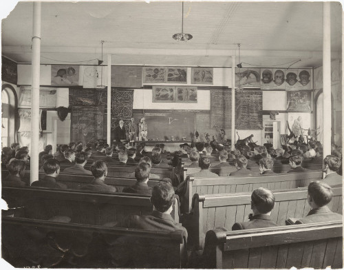 Lecture at cornell university, 1910.