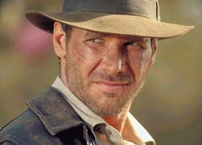 Harrison Ford in his early age while shooting of Indiana Jones movie.