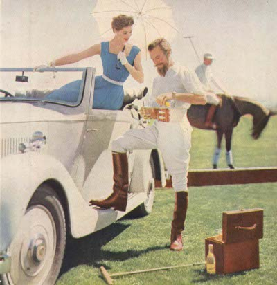 vintage sweppes ad advertisement woman in white car