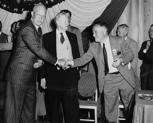 vintage men shaking hands meeting