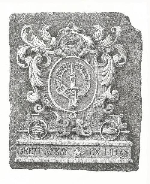Brett McKay Ex Libris bookplate