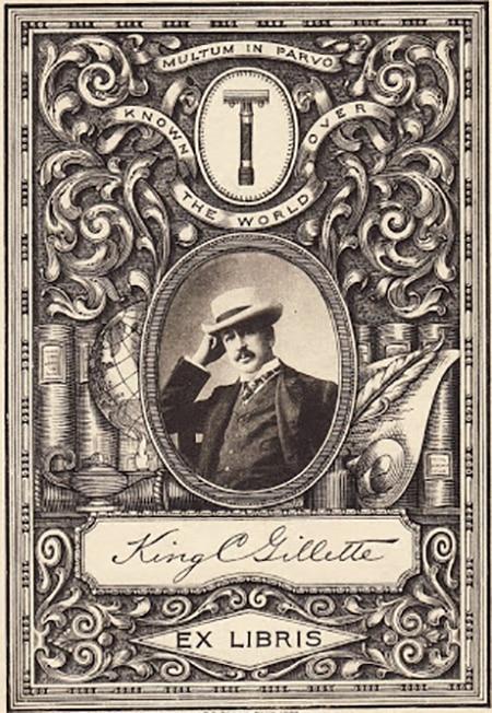 King Gillette Bookplate ex libris