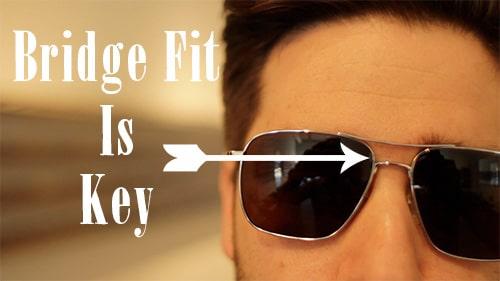 aviator sunglasses shades bridge fit