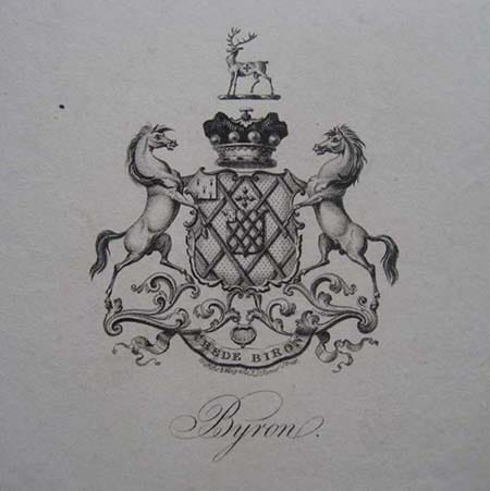 lord byron Bookplate ex libris