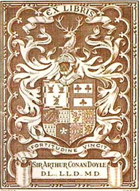 sir arthur conan doyle Bookplate ex libris