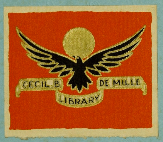 A bookplate by Cecil B Demille.