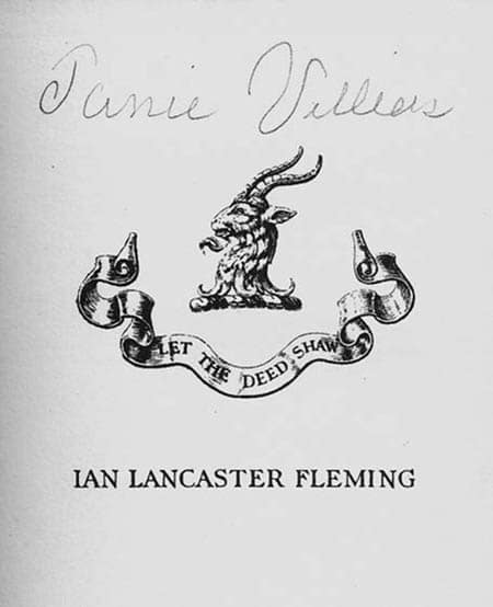 ian fleming james bond bookplate ex libris let the deed shaw