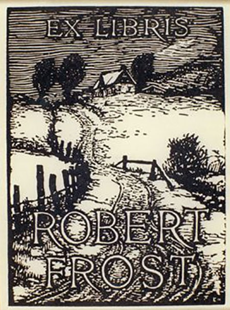 robert frost bookplate ex libris