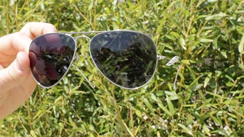 aviator sunglasses shades with dark gray lenses