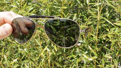 aviator sunglasses shades with green lenses