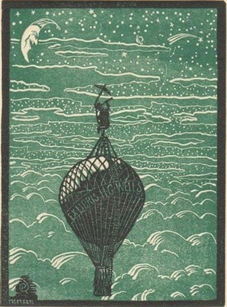 h.g. wells Bookplate ex libris
