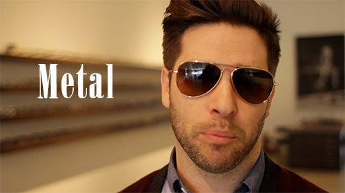 metal aviator sunglasses shades