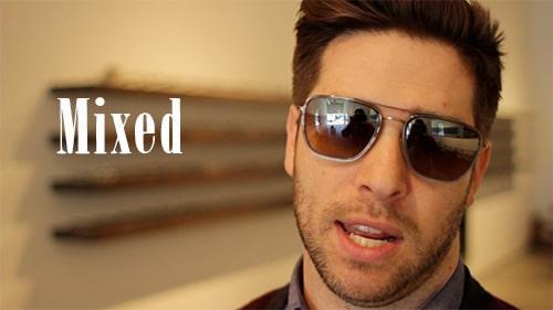 mixed materials aviator sunglasses shades