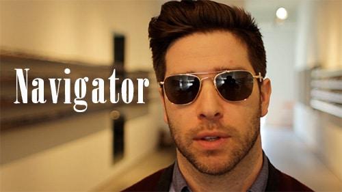 aviator sunglasses shades navigator shape