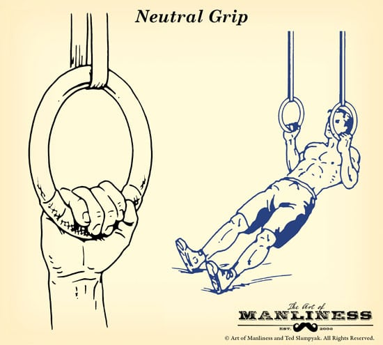 gymnastic rings grip neutral illustration