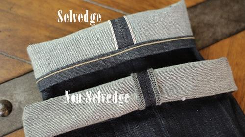 selvedge vs non-selvedge jeans denim