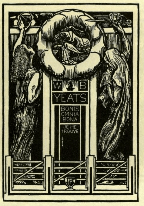 wb yeats bookplate ex libris