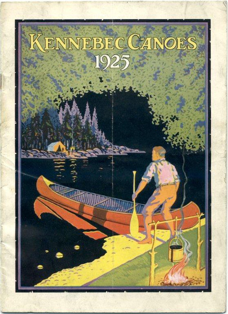 kennebec canoes 1925 vintage ad advertisement