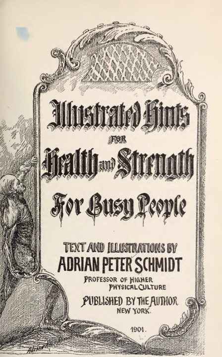 hints for health and strength for busy people by adrian peter schmidt