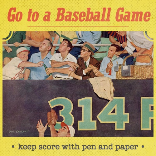 vintage illustration boy reaching for ball at baseball game