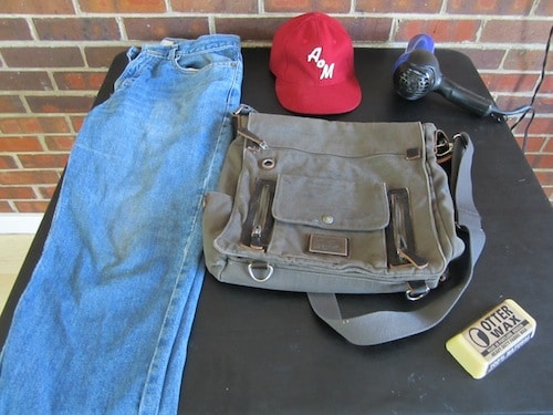wax your own clothing gear otter wax jeans bag hat