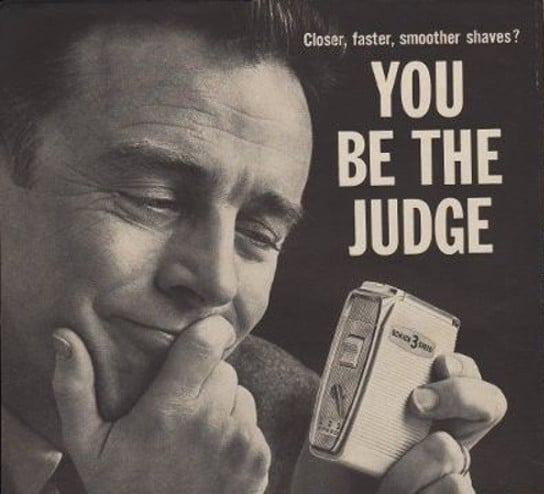 vintage electric razor ad advertisement you be the judge