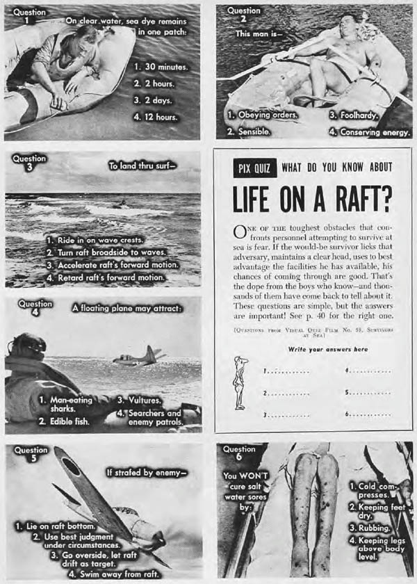 life on raft