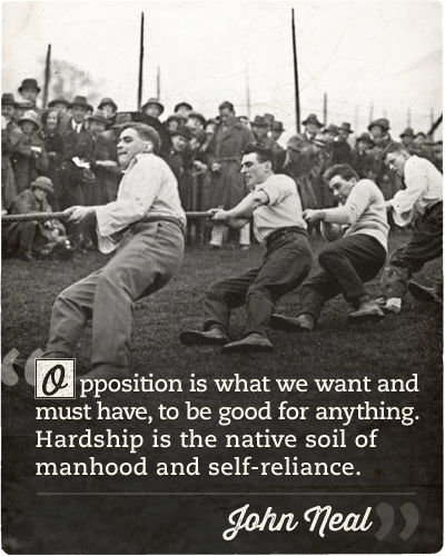 john neal opposition quote men in tug of war competition
