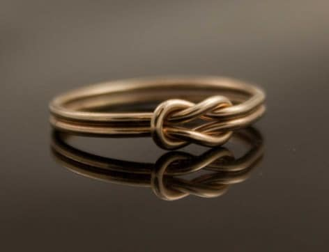 eternal knot love symbol ring diamond ring alternative