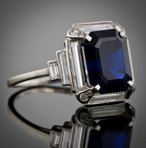 5 carat sapphire engagement ring diamond alternative