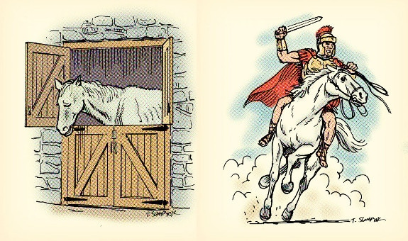 plato thumos illustration white horse