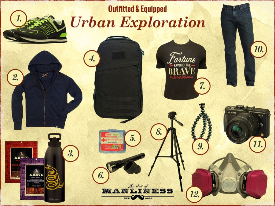 what to wear bring for urban exploration outing