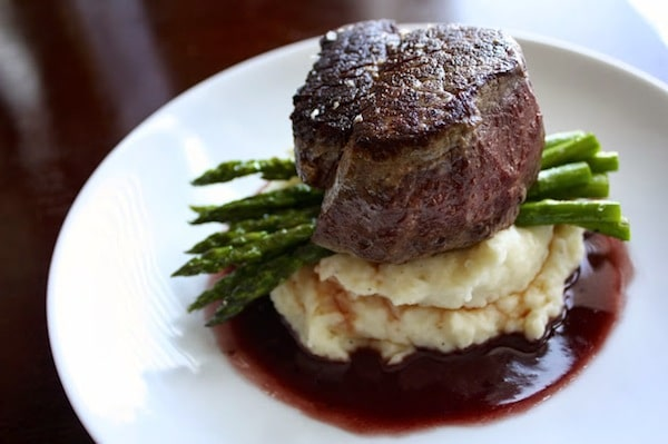homemade Pan Seared Filet + Red Wine Sauce