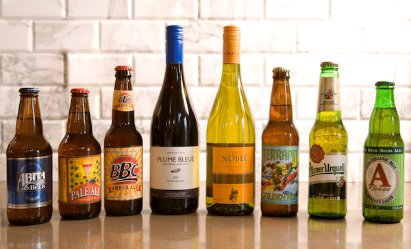 beer and wine lineup cooking with alcohol booze