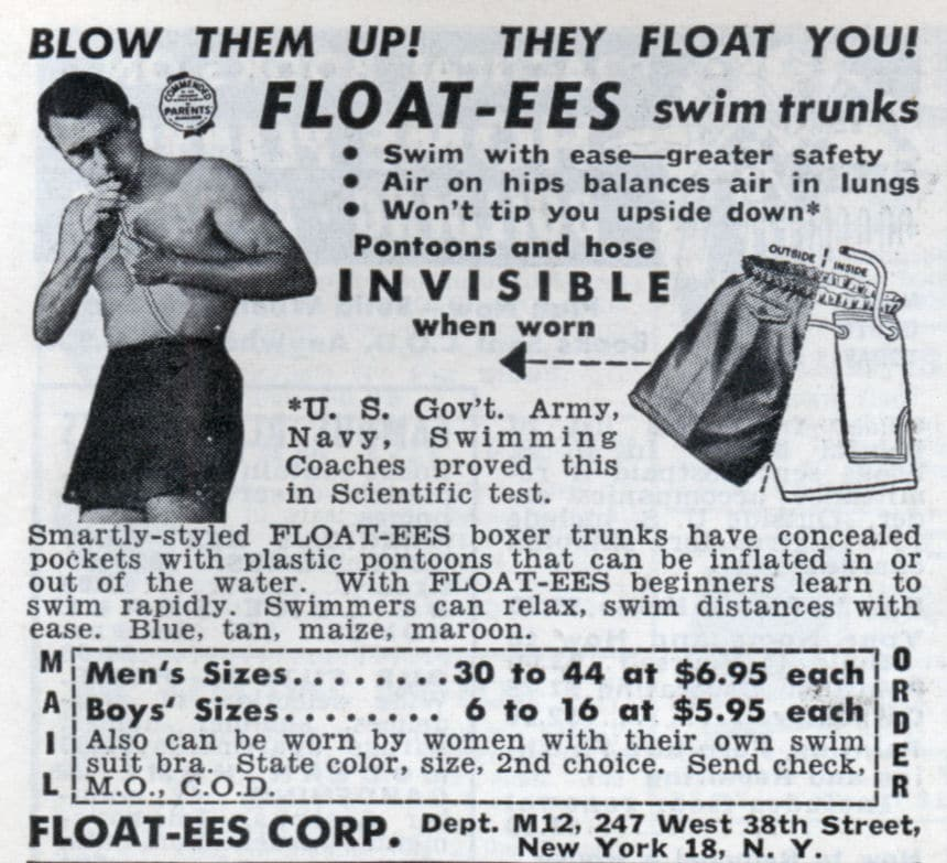 A poster of swim float.