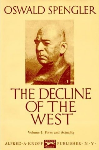 The Decline of the West by Oswald Spengler book cover