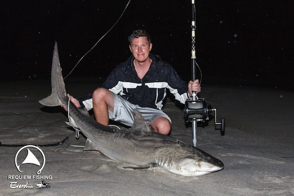Stan Warren, founder of Requiem Fishing fishing shark