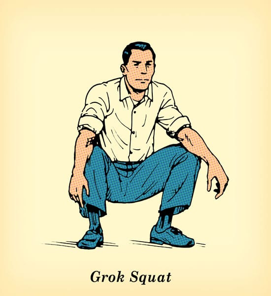 grok squat exercise undo damage of sitting