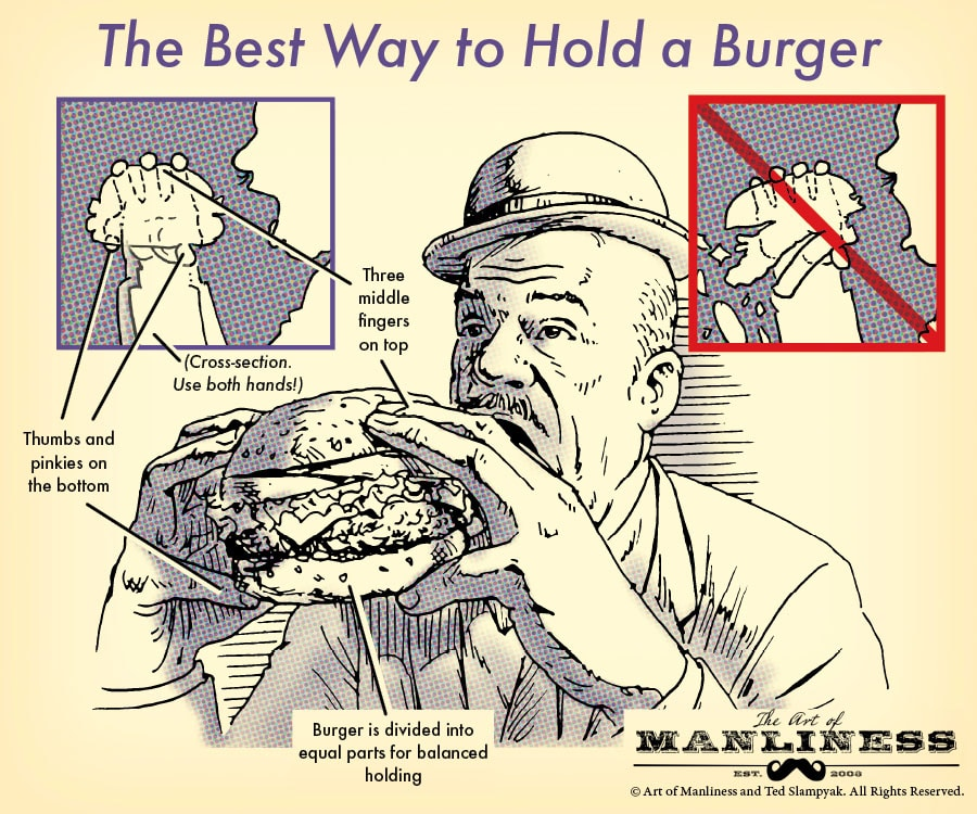 best way to hold a hamburger burger