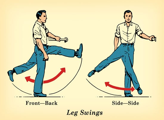 leg swing exercise undo damage of sitting