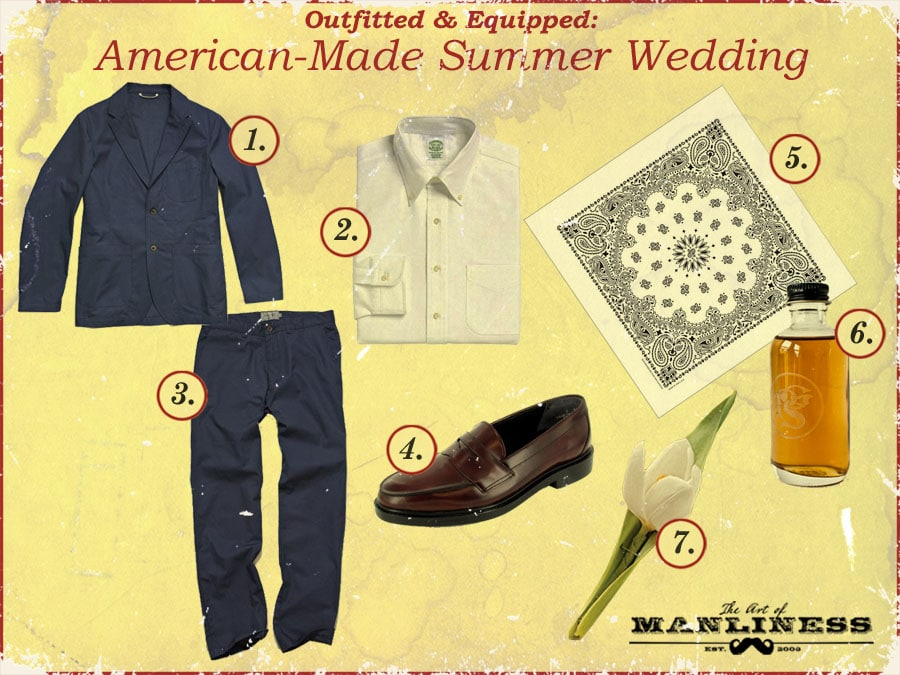 what a man should wear to a summer wedding