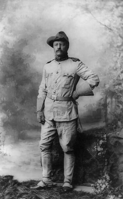 teddy theodore roosevelt in uniform military portrait