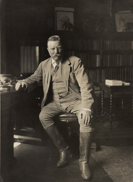 teddy theodore roosevelt sitting portrait with riding boots