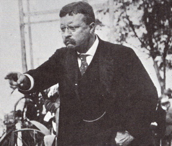 teddy theodore roosevelt giving speech pointing with hand