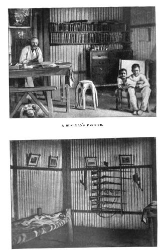 vintage home shack in australia with bookshelves