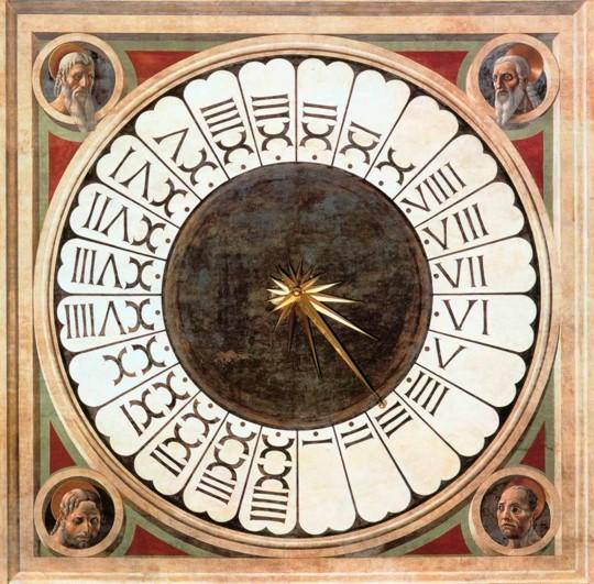 Roman numerals clock illustration.
